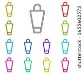 laundry bag multi color icon....