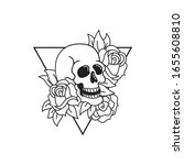 Rose And Skull Tattoo Template. ...