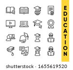 Education Vector Icons Set For...