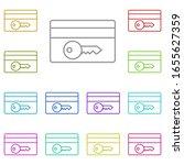 key  card multi color icon....