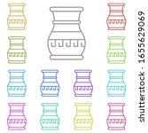 history  vase multi color icon. ...