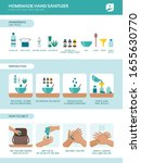how to prepare an homemade hand ... | Shutterstock .eps vector #1655630770