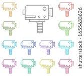 camera  video multi color icon. ...