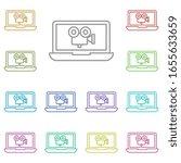 notebook movie multi color icon....