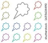 bubble  chat  cloud multi color ...
