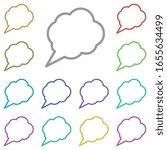 bubble  chat  star multi color...