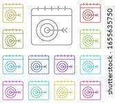 calendar  target multi color...