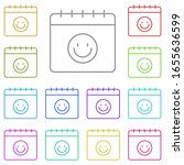 calendar  smile multi color...