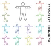 points  limbs multi color icon. ...