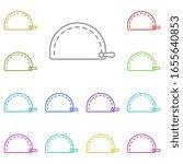 makeup bag multi color icon....