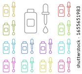 body oil multi color icon....