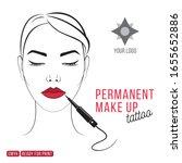 beautiful woman permanent make... | Shutterstock .eps vector #1655652886