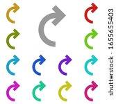 right arrow semicircle multi...