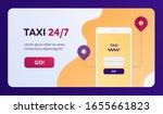 taxi 24 7 service concept....
