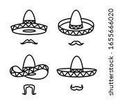 sombrero set. collection icon... | Shutterstock .eps vector #1655666020