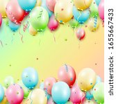 birthday template with colorful ... | Shutterstock .eps vector #1655667433