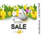 spring sale background with...   Shutterstock .eps vector #1655667439