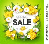 spring sale background with... | Shutterstock .eps vector #1655667463