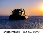 Rescue Hovercraft Boat On The...