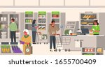 people characters shopping in... | Shutterstock .eps vector #1655700409