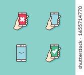 vector set of smartphone...   Shutterstock .eps vector #1655714770