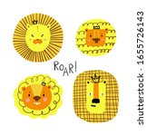 cute hand drawn set of yellow... | Shutterstock .eps vector #1655726143