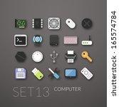 flat icons set 13   computer...