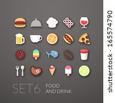 flat icons set 6   food and...