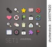 flat icons set 1   universal...
