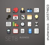 flat icons set 8   businnes...