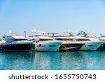 Yachts Parked At The Marina