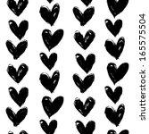 grunge vector seamless pattern... | Shutterstock .eps vector #165575504