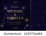 wedding invitation card with... | Shutterstock .eps vector #1655756683