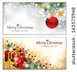 two christmas banners   eps 10 | Shutterstock .eps vector #165575948