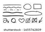 vector hand drawn pencil... | Shutterstock .eps vector #1655762839