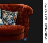 red velvet furniture fragment...   Shutterstock . vector #1655766790