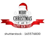 merry christmas banner. vector | Shutterstock .eps vector #165576830