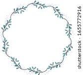 a wreath of unusual flowers.... | Shutterstock .eps vector #1655772916