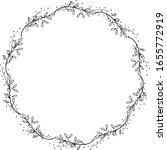 a wreath of unusual flowers.... | Shutterstock .eps vector #1655772919