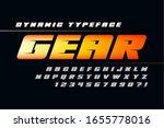 futuristic alphabet design ... | Shutterstock .eps vector #1655778016