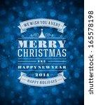 christmas snowflakes light... | Shutterstock .eps vector #165578198