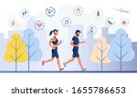 smart workout concept with two... | Shutterstock .eps vector #1655786653