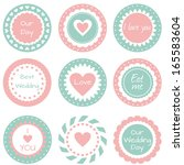 tags for wedding | Shutterstock .eps vector #165583604