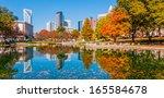 charlotte city skyline autumn... | Shutterstock . vector #165584678