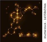 vitamin d3 formula gold on dark ... | Shutterstock .eps vector #1655865466