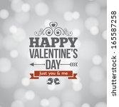valentines day light card...   Shutterstock .eps vector #165587258