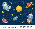 vector illustration of maze ... | Shutterstock .eps vector #1655896990