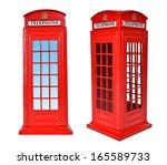 British Telephone Box  Isolated ...