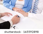financial advisor is explaining ...   Shutterstock . vector #165592898