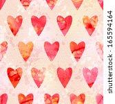 romantic watercolor background... | Shutterstock .eps vector #165594164